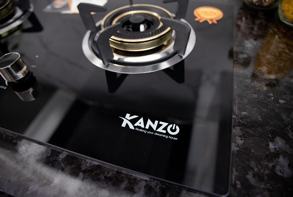 Bếp Gas Âm 2 Mâm Kanzo KZ-ECO-8888-GA1 - Japan Technology - Sơn tĩnh điện siêu bền - Hàng Chính Hãng