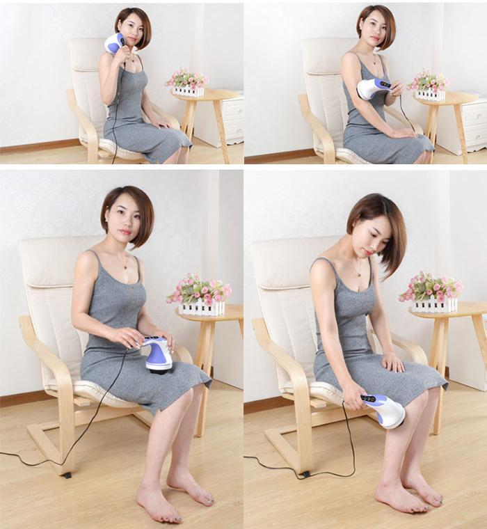 Máy massage cầm tay toàn thân đèn hồng ngoại 8 đầu PL-603AC3 - Điện tử
