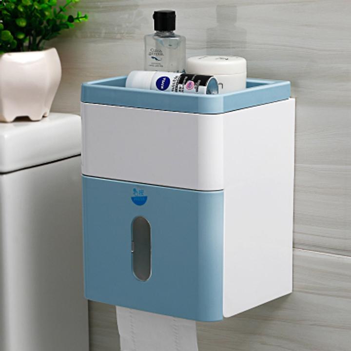 Hộp để giấy nhà vệ sinh , nhà tắm ( Mầu ngẫu nhiên ) - Hàng chính hãng