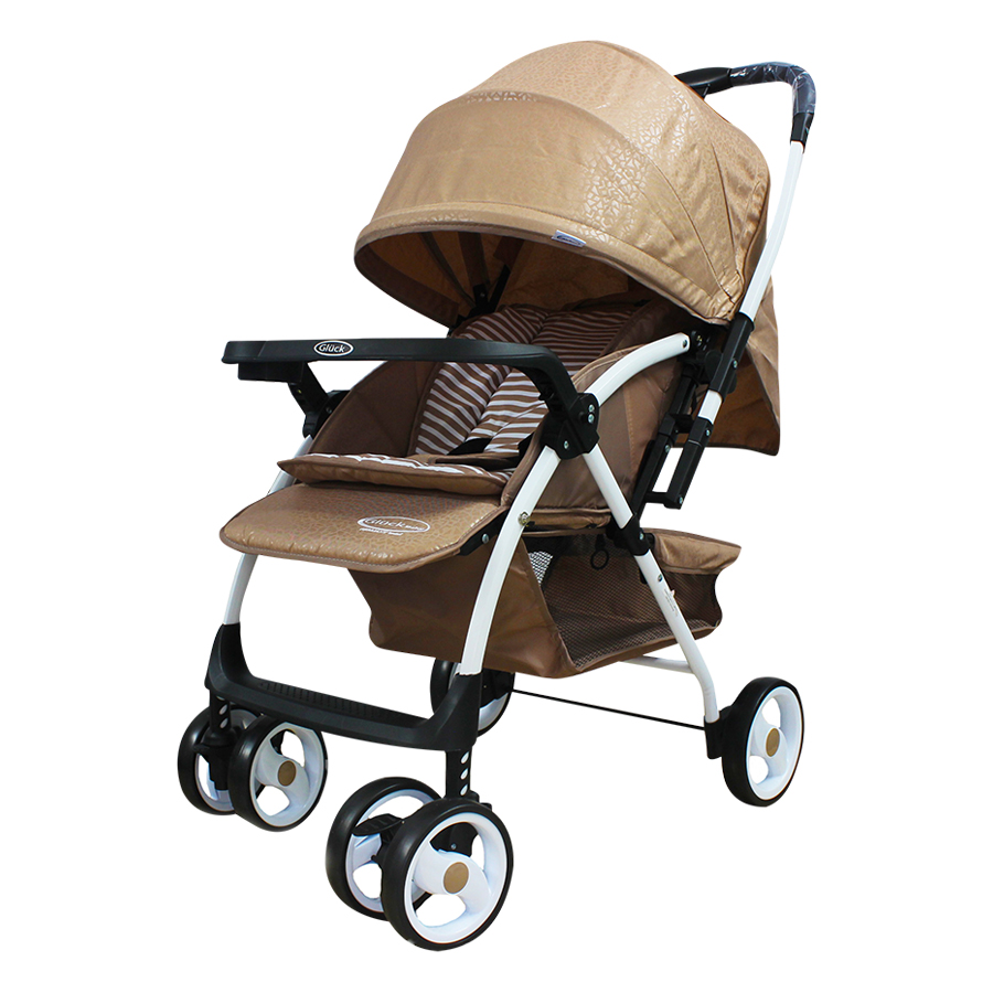 Xe Đẩy Trẻ Em Hai Chiều Gluck Baby C58 - Kem