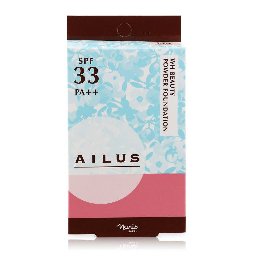 Phấn nền sáng da Naris Ailus WH Beauty Powder Foundation