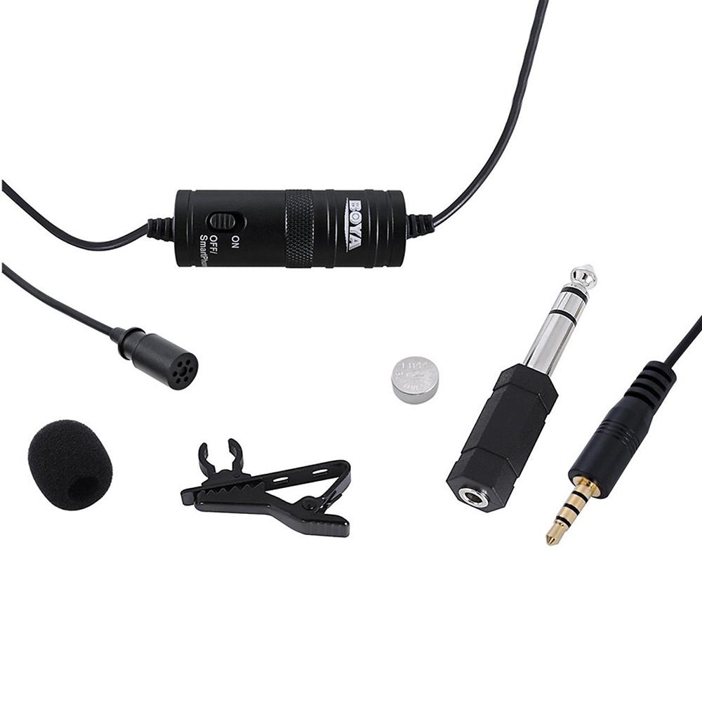 Micro Thu Âm Kẹp Áo Chuyên Nghiệp BOYA Lavalier, Smartphone and GoPro Mic- BY-M1 - Hàng Chính Hãng