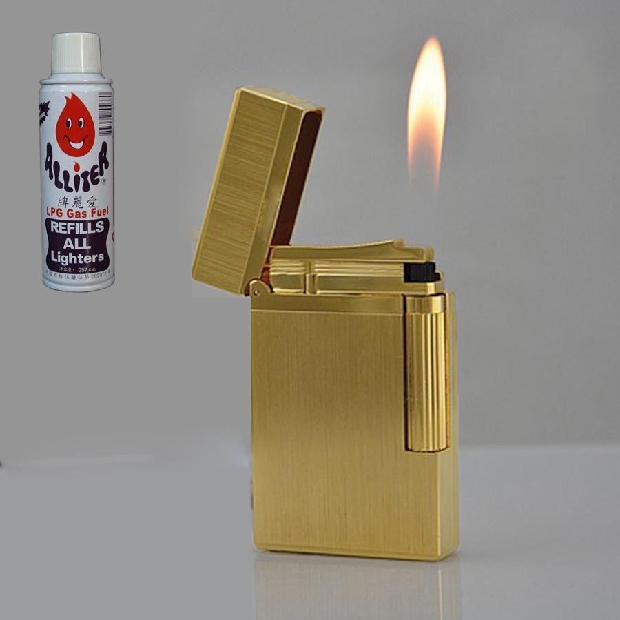 Combo Hộp Quẹt Bật Lửa Mạ Vàng DP-22 + Tặng Bình Gas Chuyên Dụng Cho Bật Lửa