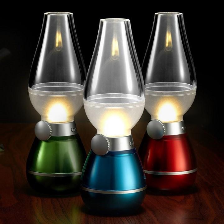 Đèn dầu led cảm ứng thổi tắt bật - Màu ngẫu nhiên