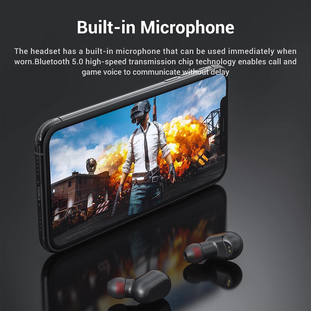 Tai Nghe Không Dây TOPK F22 Chân Thật Cao cấp TWS Bluetooth 5.0,Trong Tai Chống Nước, Có Mic Cho iPhone,Android (Tai nghe) - Hàng chính hãng