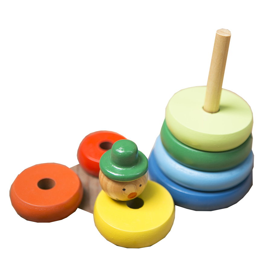 Đồ chơi gỗ - Tháp tròn gỗ