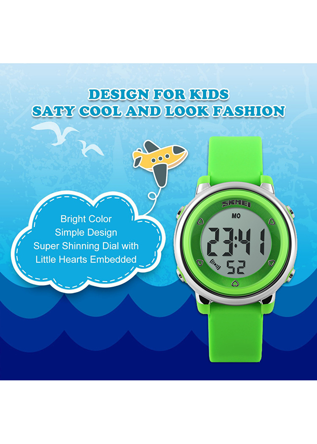 Đồng Hồ Trẻ Em Chống Nước Đèn Led 7 Màu SKMEI 1100 - DHA472
