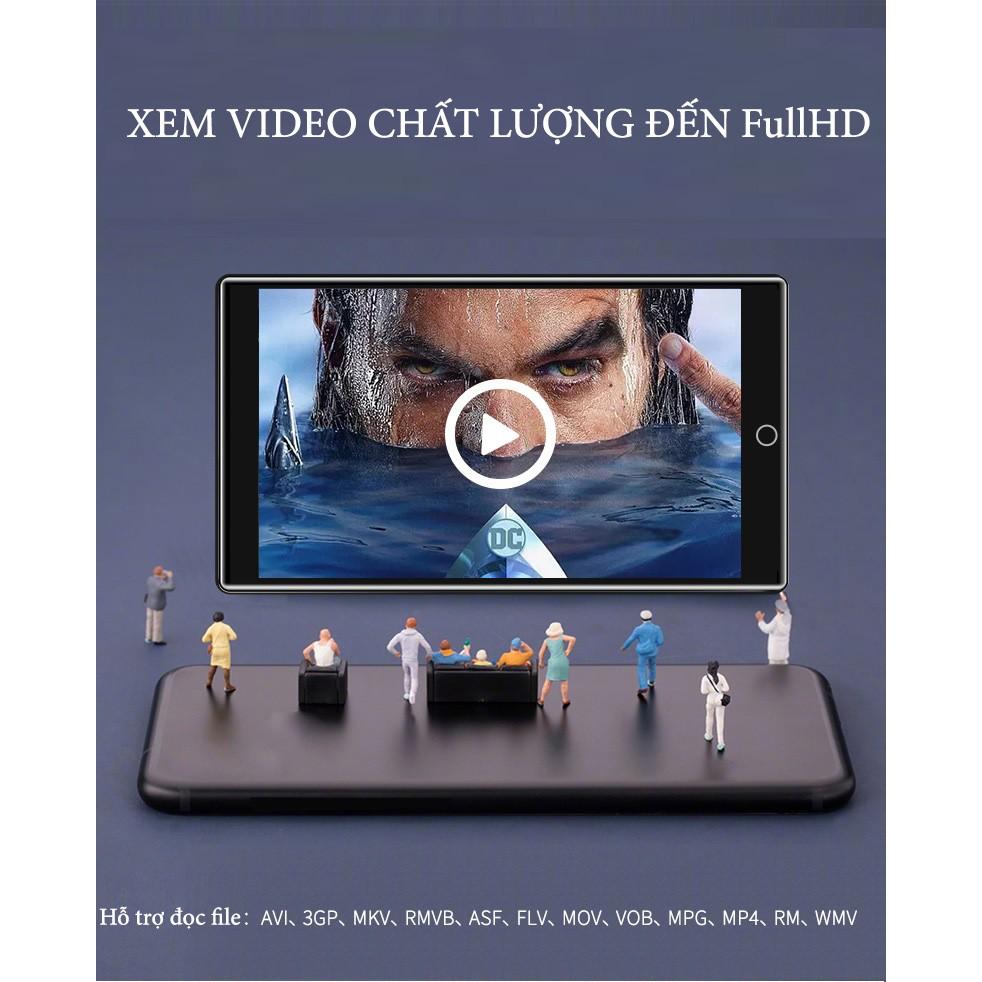 Máy nghe nhạc ipod Mp3 Mp4 Ruizu H1 8GB Màn Hình full Cảm ứng Bluetooth 5.0 Kỹ Thuật Số - Hàng Chính Hãng