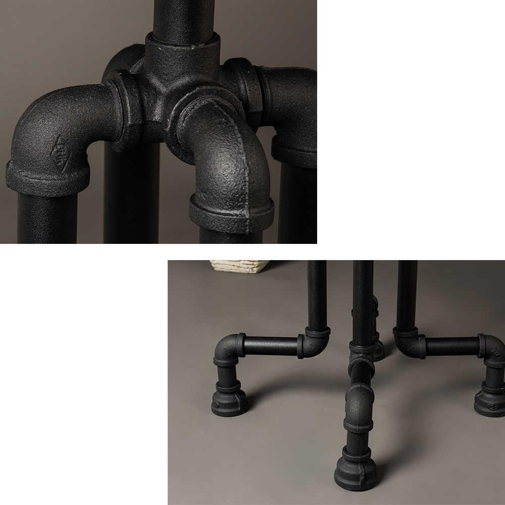 Bàn tròn ống nước bàn tròn decor vintage chất liệu ống nước và gỗ trang trí nhà decor quán café