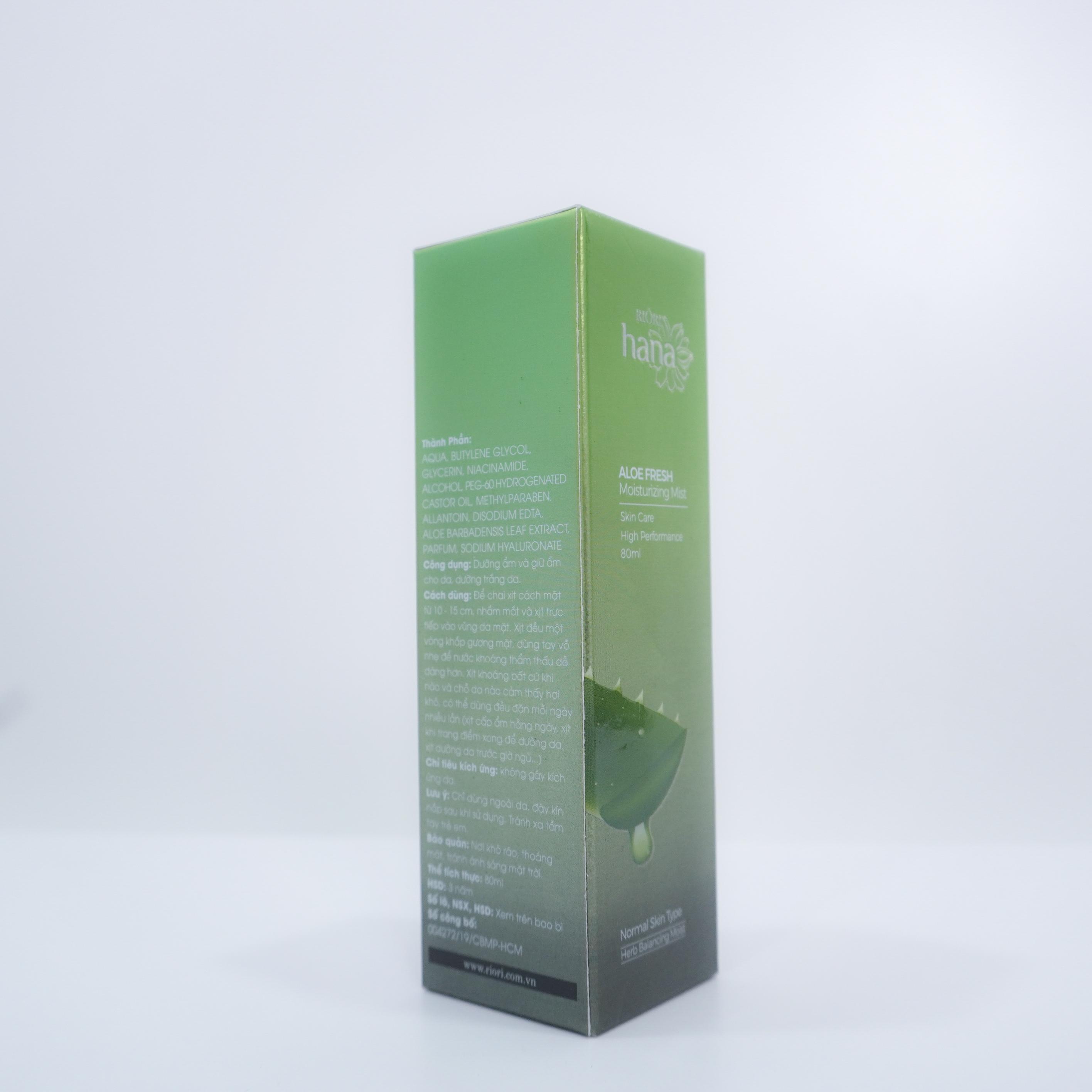 Xịt khoáng lô hội RIORI ALOE FRESH 80ML - TP-ROH-048-01
