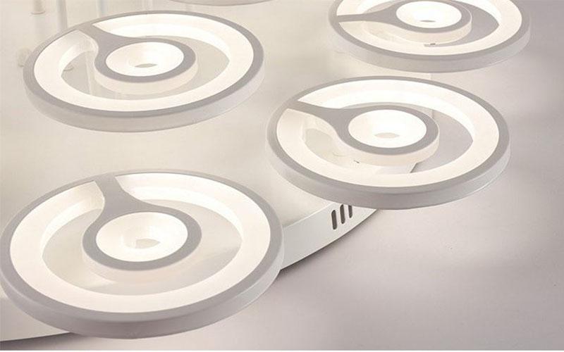 Đèn trần PYKER 3 chế độ ánh sáng hiện đại trang trí nhà cửa, quán cafe - kèm bóng LED chuyên dụng và điều khiển từ xa