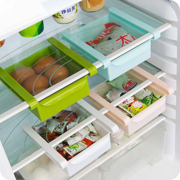 Bộ 3 Khay kéo để tủ lạnh đựng đồ thông minh