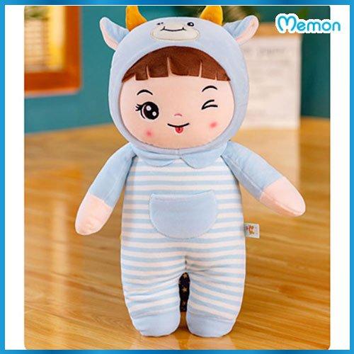Gấu bông Búp bê cho em bé gái cao cấp - Hàng chính hãng Memon - Đồ chơi thú nhồi búp bê bé gái, Nhung mịn cao cấp bông gòn tinh khiết, đàn hồi tốt, bền đẹp dễ sử dụng và an toàn cho trẻ nhỏ.