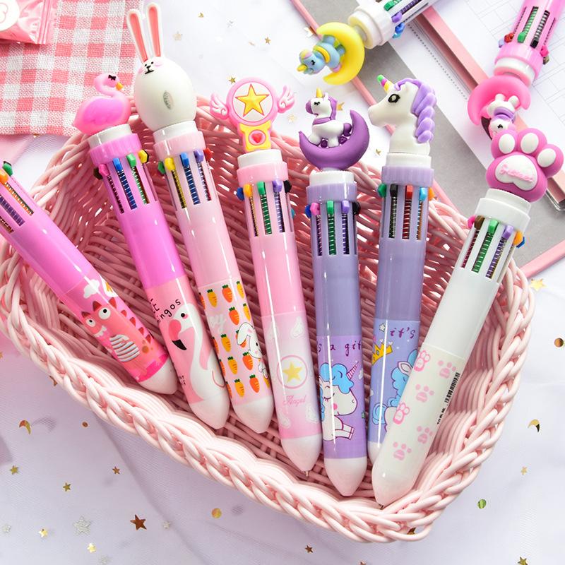 Bút bi nhiều ngòi màu sắc dễ thương được chọn mẫu