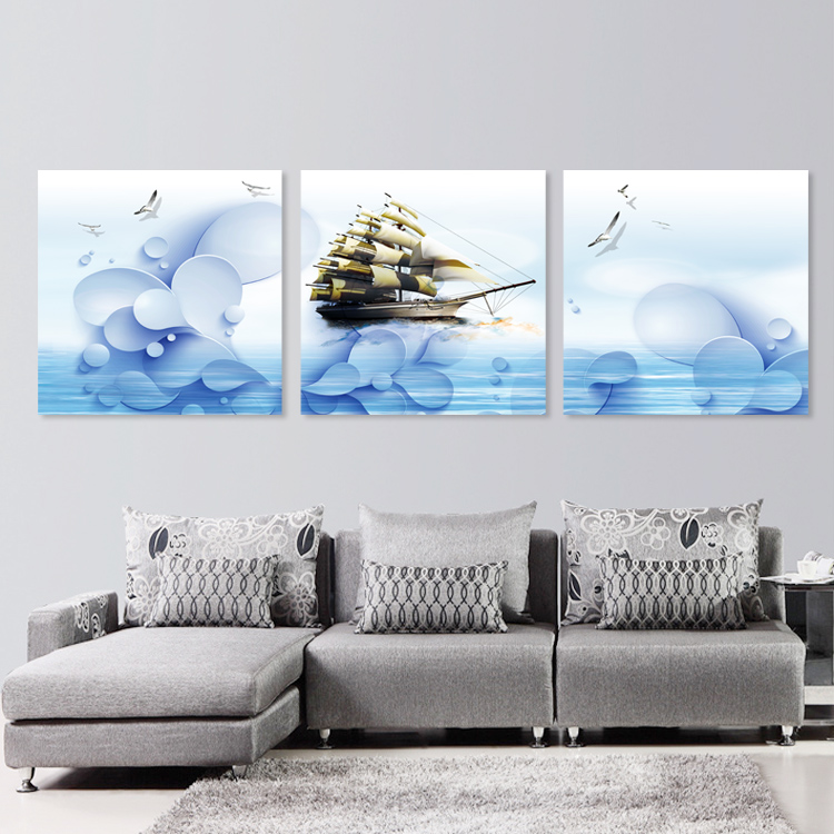 Tranh bộ-Thuận buồm xuôi gió- Bộ 3 khung 40*60