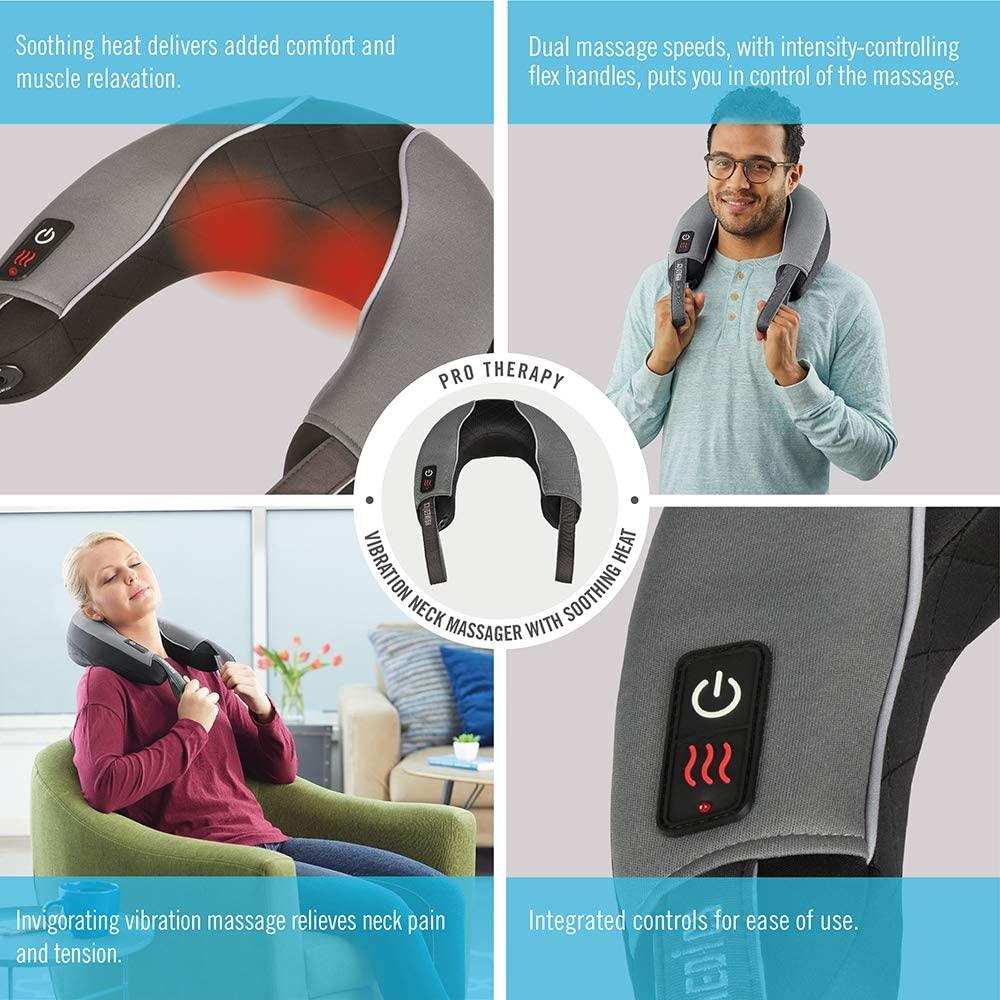 Đai massage cổ vai gáy/Rung/Hồng ngoại HoMedics Pro Therapy Vibration NMSQ-217HJ