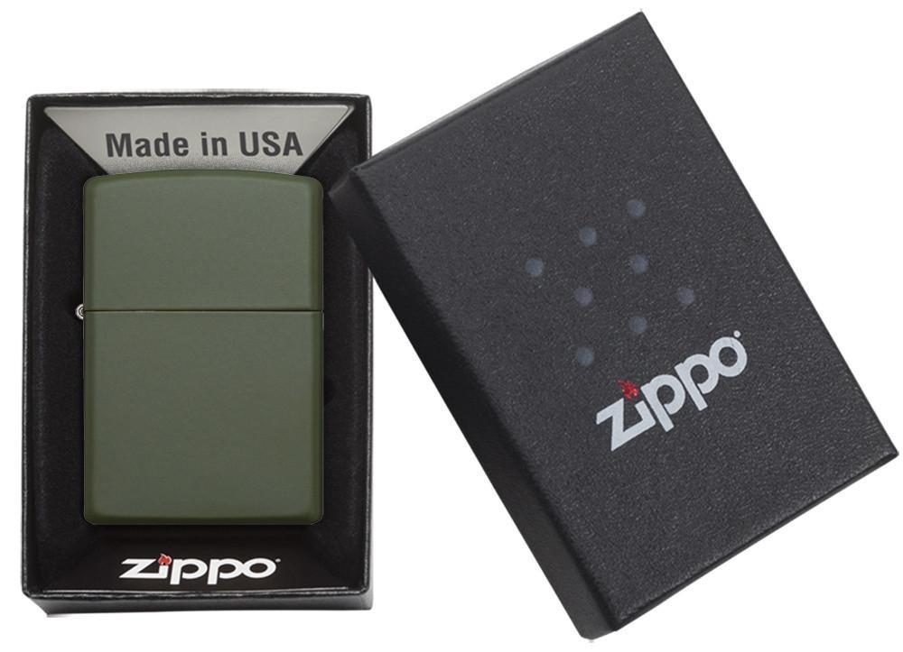 Bật Lửa Zippo Green Matte 221