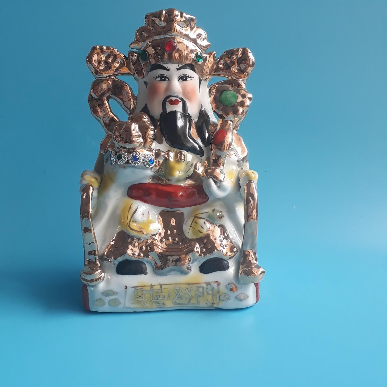Tượng Thần Tài Quan lộc đặt Ban thờ thần tài sứ đẹp