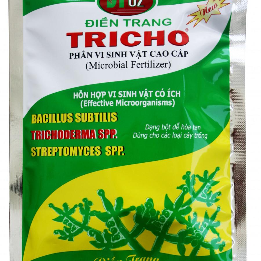 Chế phẩm sinh học hữu cơ vi sinh Tricho 500g chứa nấm đối kháng Trichoderma,Bacillus subtilis,Streptomyces spp - Trichoderma fungi 500g