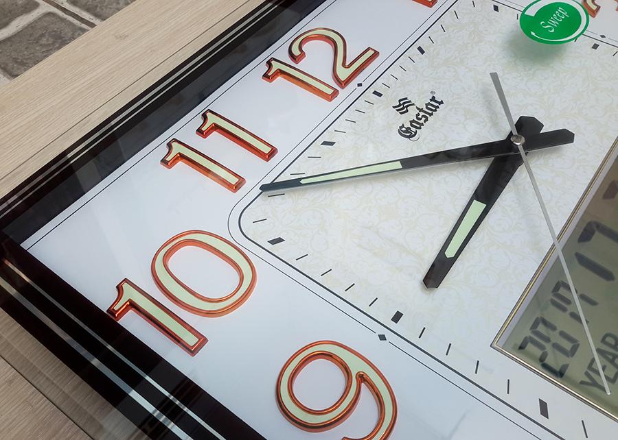 Đồng hồ Eastar Mặt kính Nổi, Có Dạ quang, Nhiệt kế và Lịch Điện tử Vạn niên