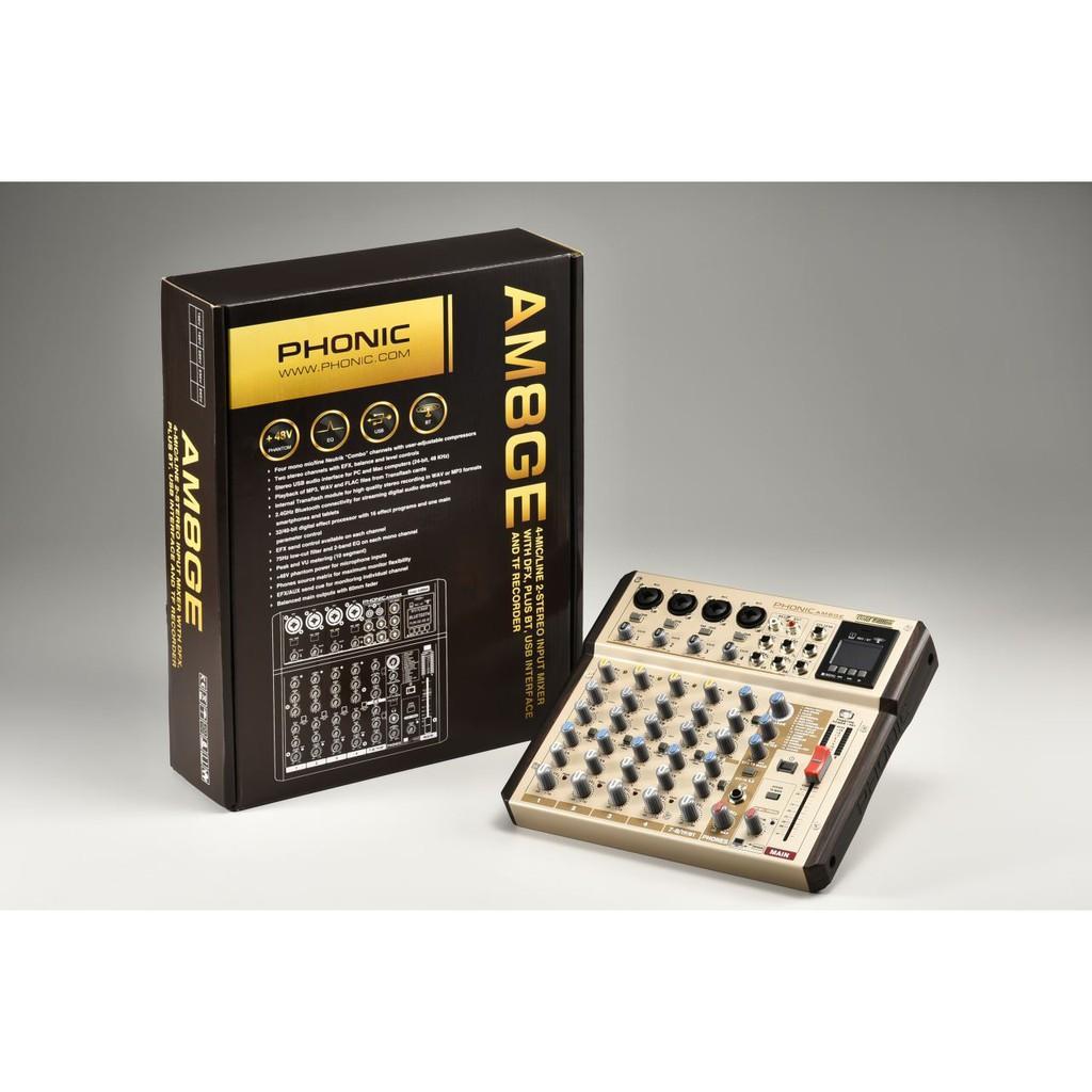 Mixer 8 kênh PHONIC AM8GE – Hàng Chính Hãng