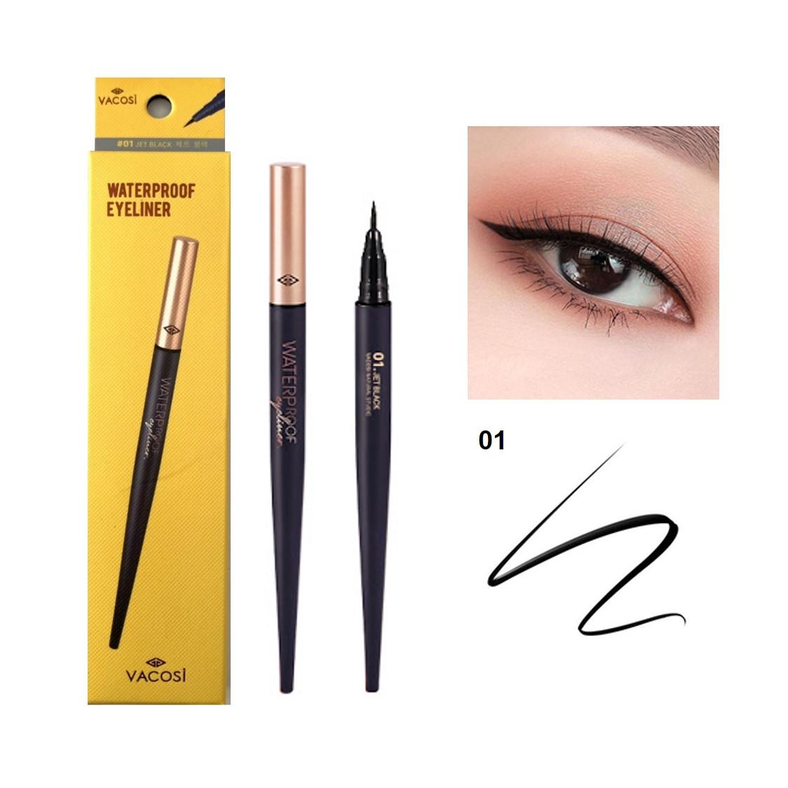 Bút Kẻ Mắt Nước Siêu Lì Vacosi Natutal Studio Waterproof Eyeliner [VM24]