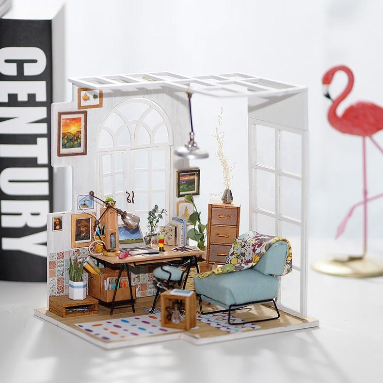 Đồ chơi lắp ráp gỗ 3D Mô hình Nhà DIY Doll House SOHO DGM01 Kèm đèn LED
