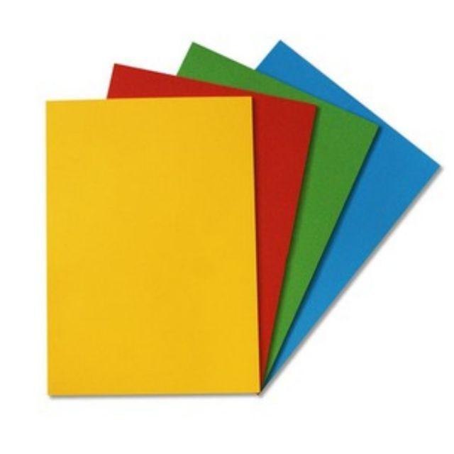 Bìa màu A3 DLG 160 gsm - trộn 5 màu (xanh lá cây, xanh da trời , vàng , cam , đỏ)