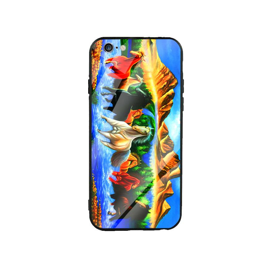 Ốp Lưng Kính Cường Lực cho điện thoại Iphone 6 Plus  6s Plus - Mã Đáo Thành Công