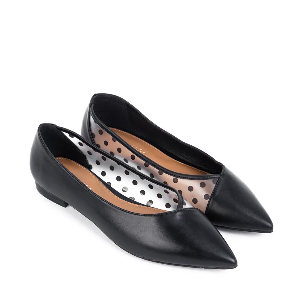 Giày búp bê phối plastic trong suốt - Sablanca 5050BB0049
