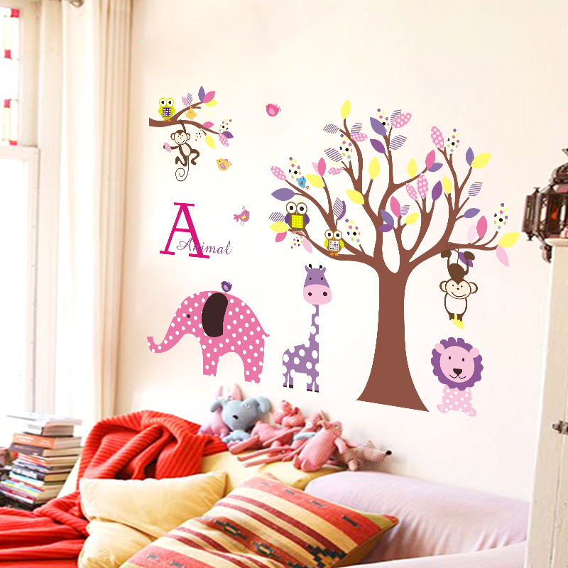 Decal dán tường Cute Animals - CC6919
