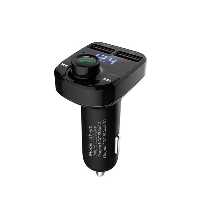 Tẩu nghe nhạc chuyên dụng trên ô tô tích hợp 2 cổng USB sạc nhanh và nghe gọi điện thoại