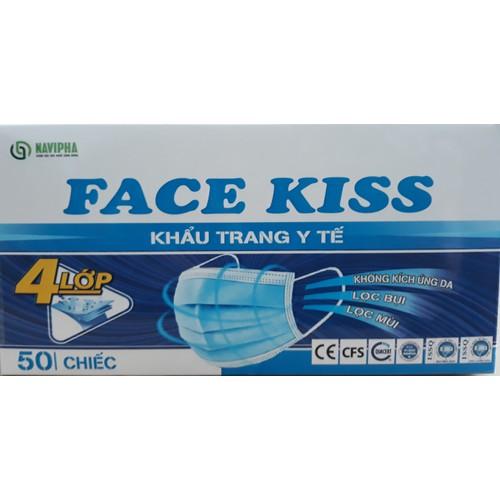 Khẩu trang y tế Face Kiss 4 Lớp Navipha Hộp 50 chiếc với lớp vải kháng khuẩn