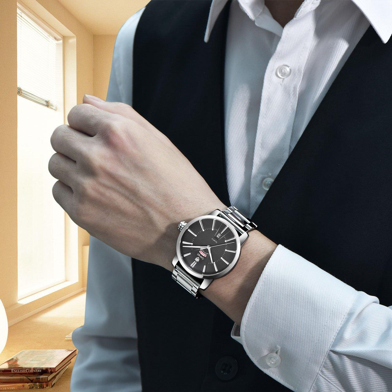 Đồng hồ nam SAMIR 0501 dây thép đúc - Hiển thị lịch ngày cao cấp – Trẻ trung – Năng động