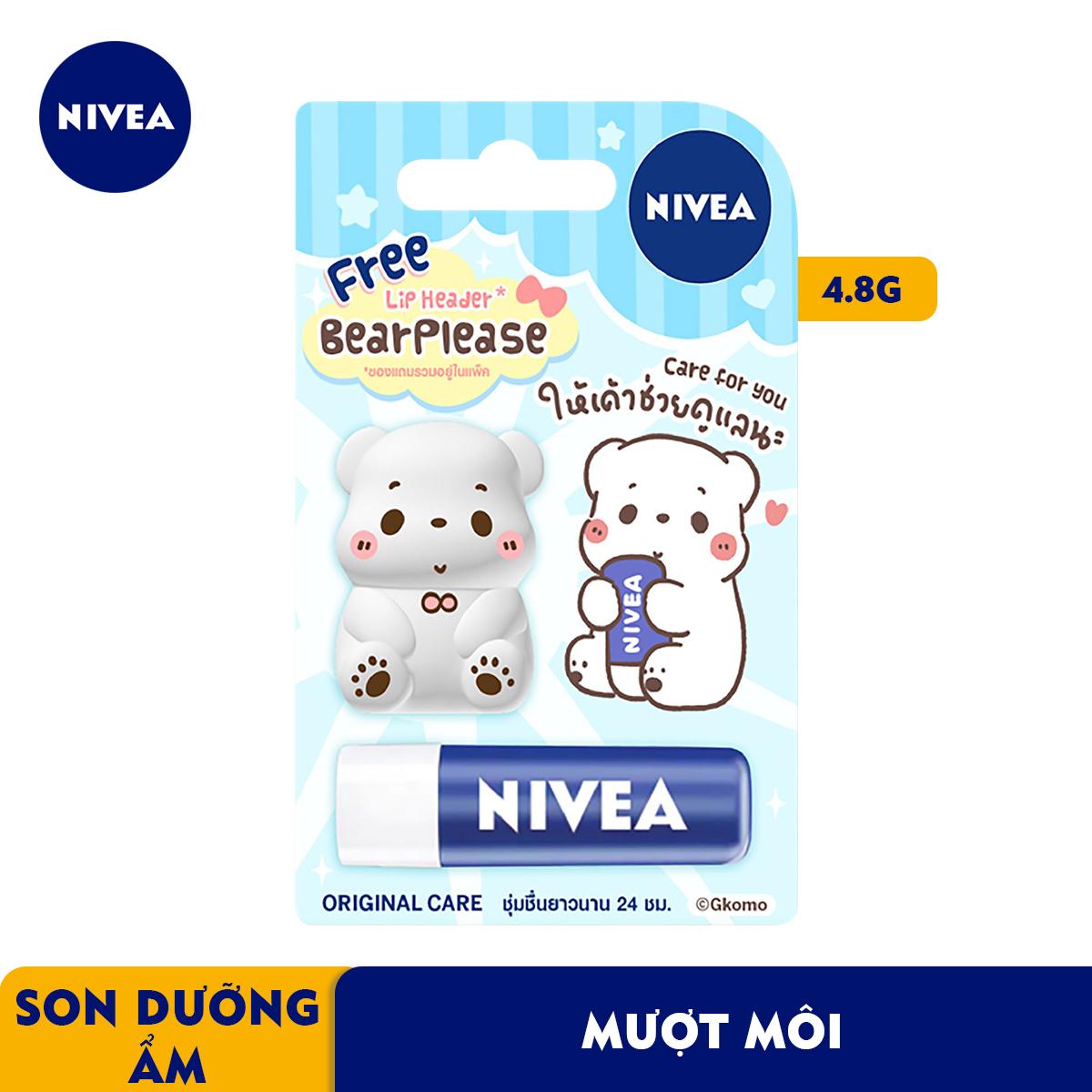 Son Dưỡng Môi Chuyên Sâu Nivea Lip Original Care  - Tặng Kèm Ốp Son - 85061