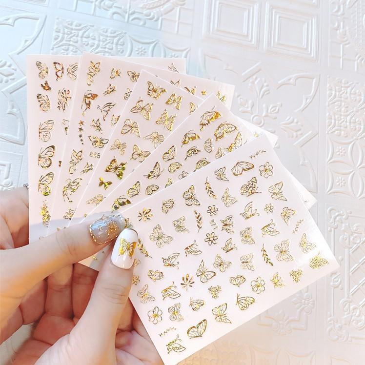 Sticker nails - hình dán móng 3D bướm hologram
