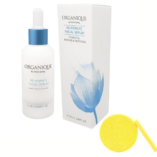 Tinh Chất Dưỡng Ẩm Cho Mặt Organique Rehydrate Facial Serum (25ml) - Tặng Kèm Mút Rửa Mặt
