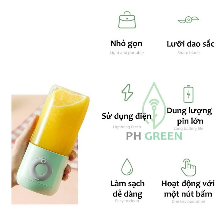 Máy Say Mini Cầm Tay PH Green Chính Hãng- Không Dây, Tiện Dụng, Nhỏ Gọn, Đa Chức Năng, Phù Hợp CHo Mọi Công Việc