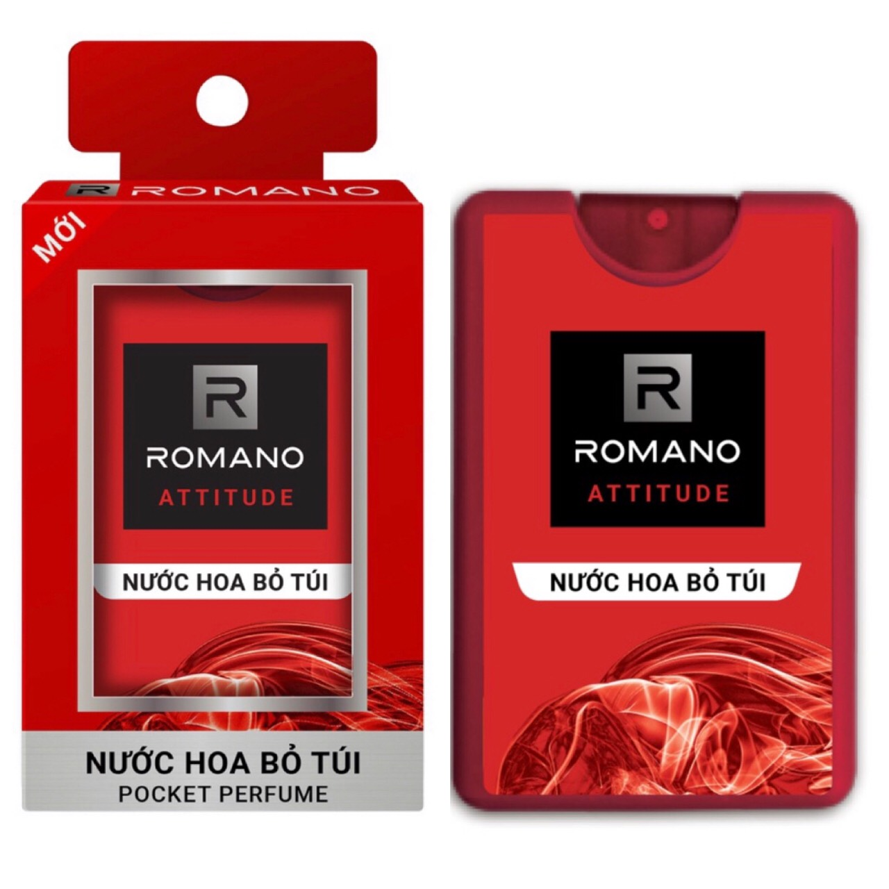 Combo Xịt khử mùi Romano Attitude 150ml+Nước hoa bỏ túi Romano Attitude 18ml