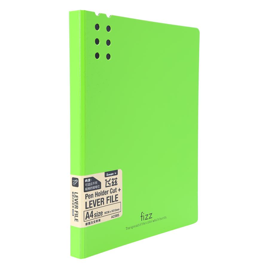 Bìa 1 Kẹp Guangbo Fizz A4 2385 - Xanh Lá