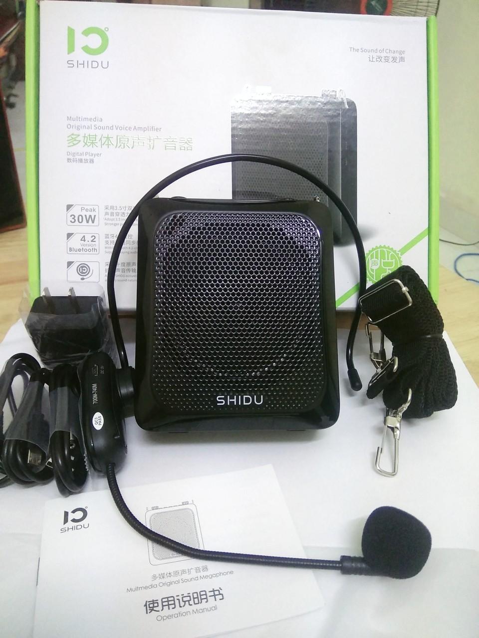 Loa trợ giảng không dây SHIDU S516 công suất lớn(30w) âm siêu to dùng cho hội trường - Hàng Chính Hãng