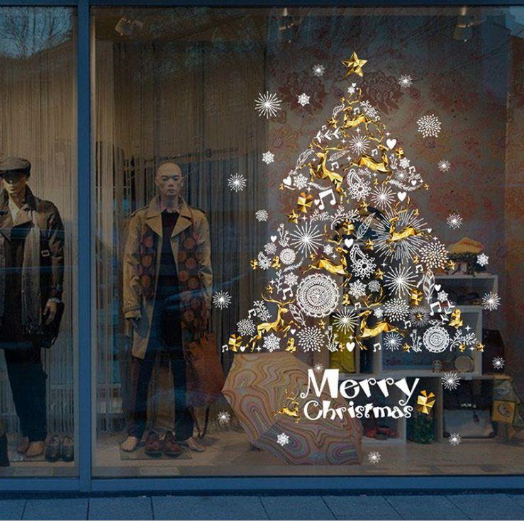 Decal cây thông trang trí Noel