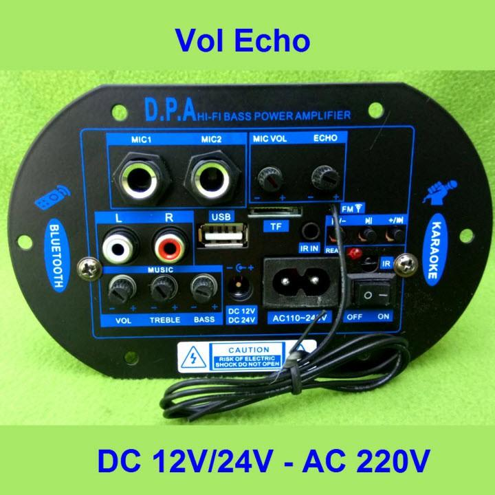 Mạch loa kéo công suất 100W - 150W DPA loa kéo 2.5 tấc - 3 tấc Bluetooth Karaoke OVAL XD
