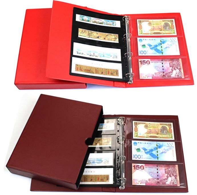 Bìa Album có hộp đựng tiền giấy , tiền xu , tem của Đài Loan , chuyên nghiệp đúng chuẩn [không kèm phơi]