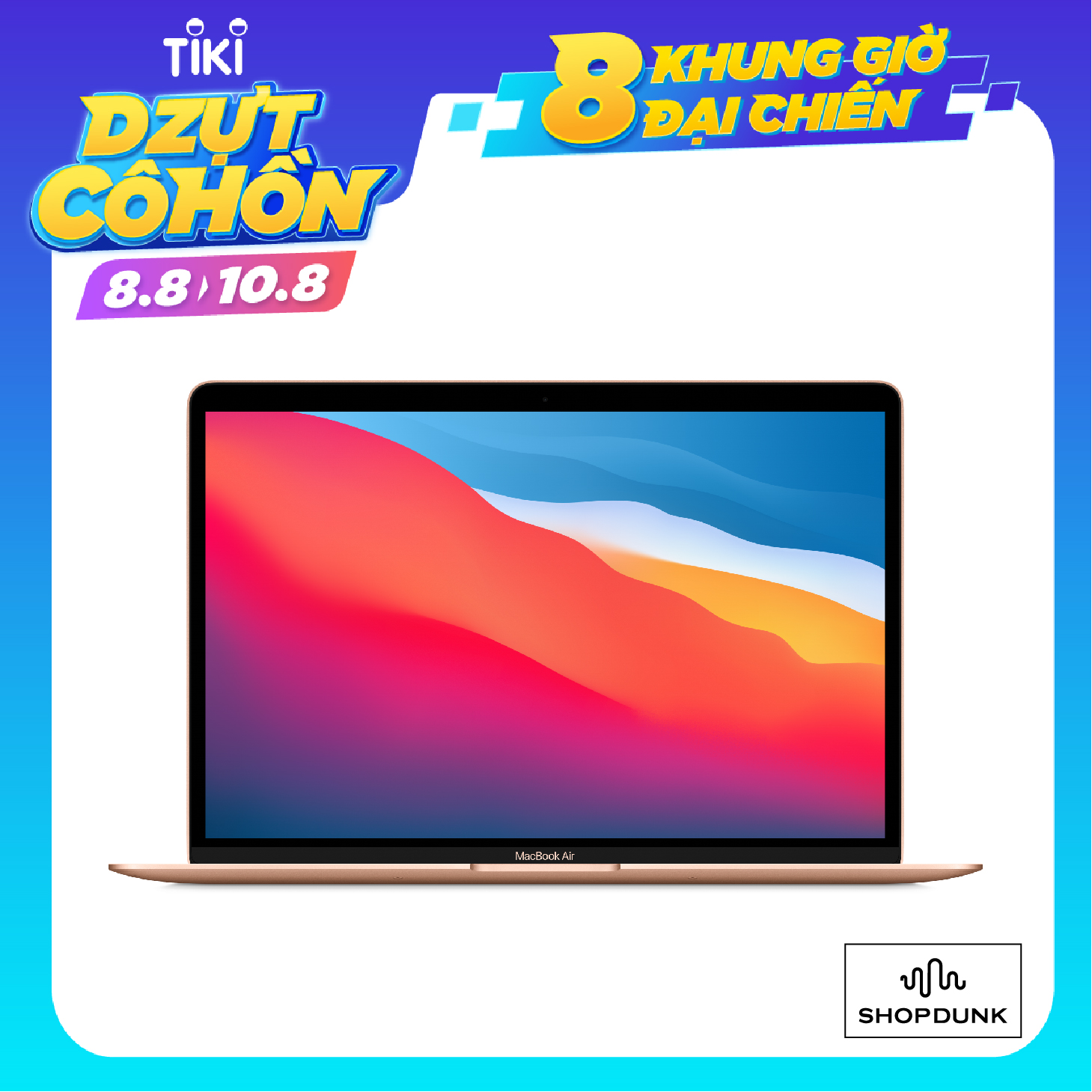 Apple Macbook Air 2020 M1 - 13 Inch (Apple M1/ 8GB/ 512GB) - Hàng Chính Hãng