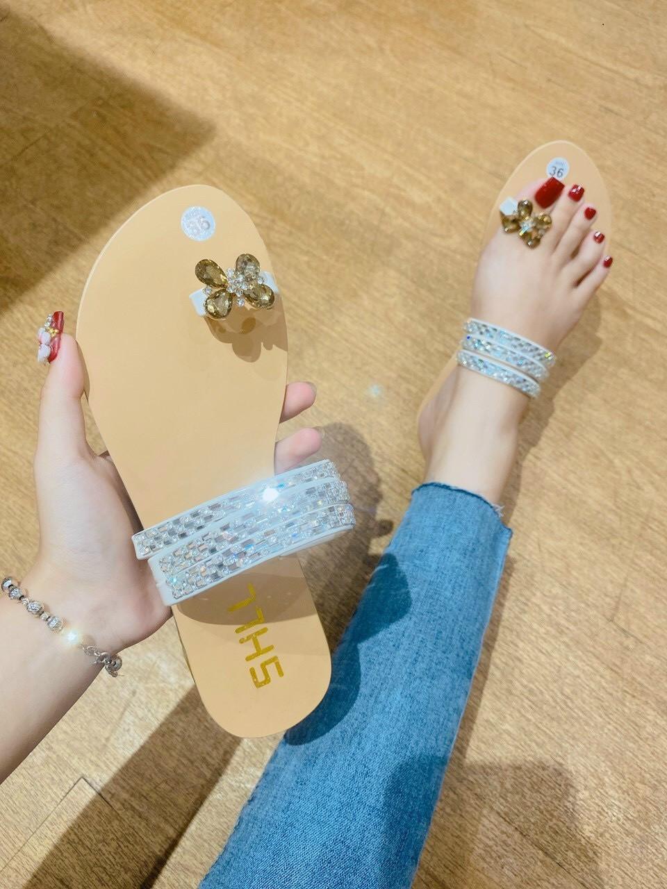 Dép nữ xỏ ngón thời trang đế bệt siêu bền hàng vnxk chuẩn shop