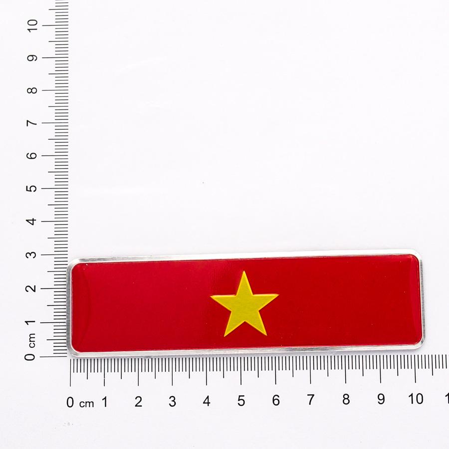 Sticker metal hình dán cờ Việt Nam 10.5x3cm