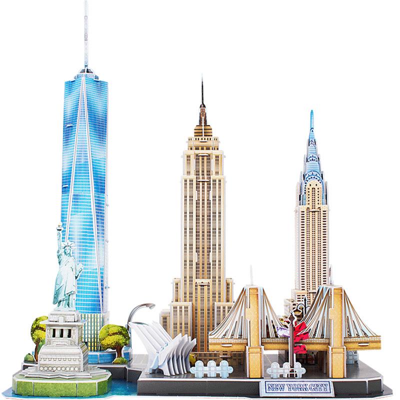 Bộ đồ chơi mô hình lắp ráp - Mẫu Thành Phố New York