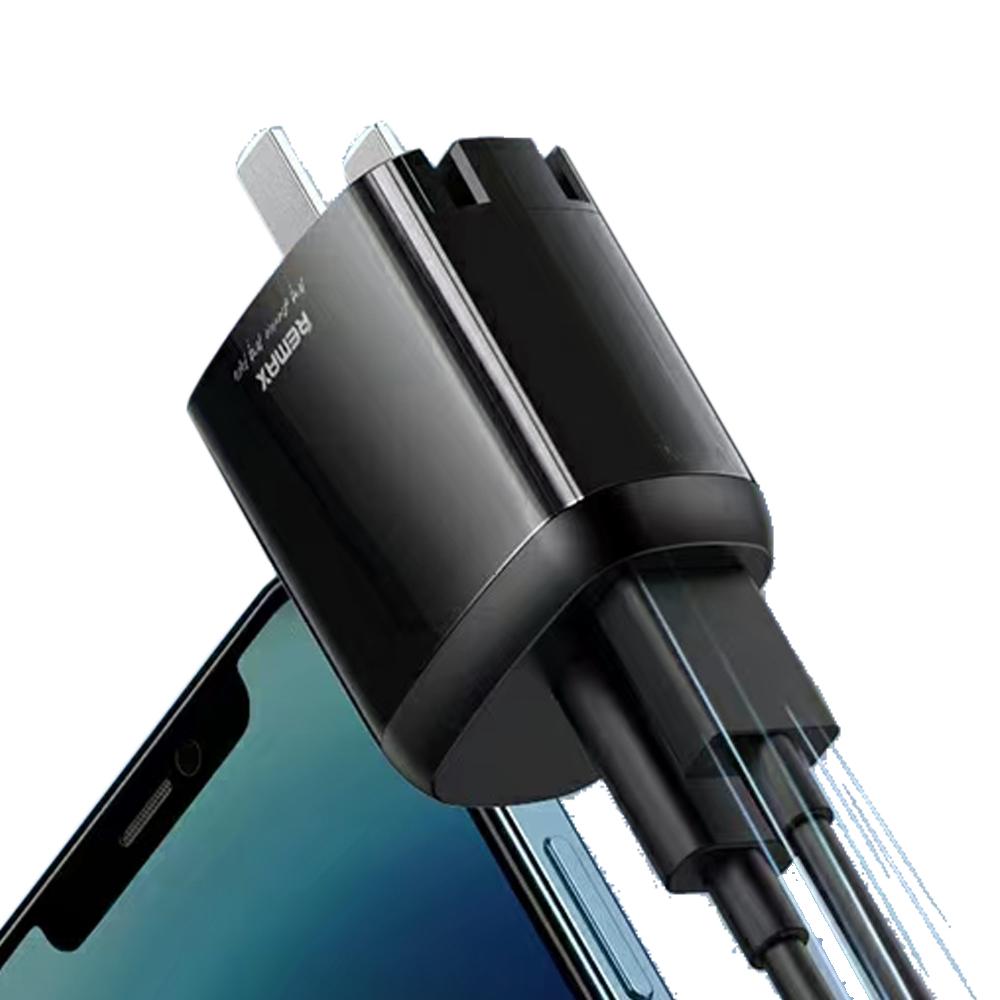Củ sạc nhanh 20w Remax RP-U64 sạc nhanh cho Iphone /Ipad Màu Đen - Hàng chính hãng