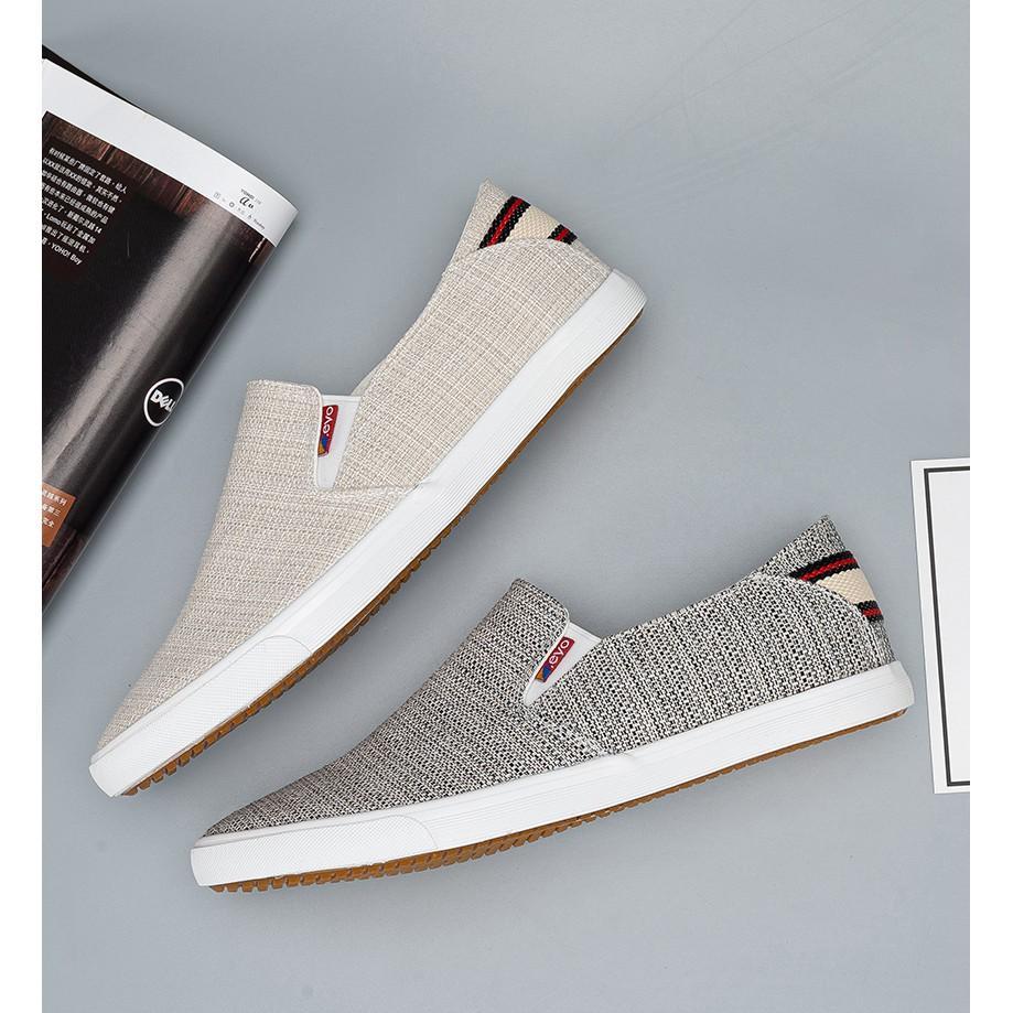 Giày lười nam - Slip on nam vải - Mã A7200